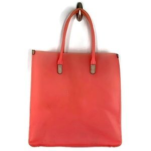 J Crew PVC Coral Pink Jelly Beach Tote Bag